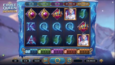 Frost Queen Jackpots Fun Slots by Yggdrasil with 5 Reel and 20 Line