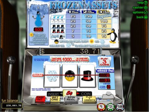 Frozen Assets Fun Slots by RTG with 3 Reel and 1 Line