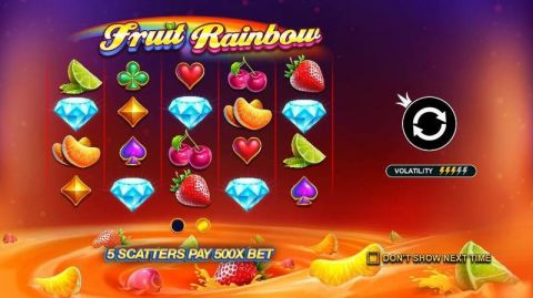 Fruit Rainbow Fun Slots by Pragmatic Play with 5 Reel and 40 Line