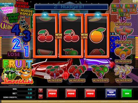 Fruit Smoothie Fun Slots by Microgaming with 3 Reel and 1 Line