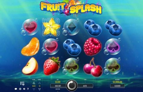 Fruit Splash Fun Slots by Rival with 5 Reel and