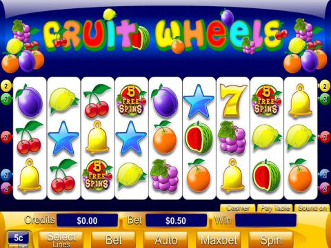 Fruit Wheels Fun Slots by Byworth with 9 Reel and 5 Line