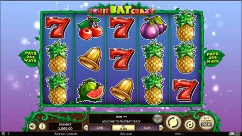 Fruitbat Crazy Fun Slots by BetSoft with 5 Reel and 243 Line