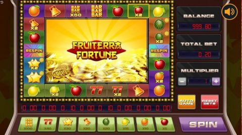 Fruiterra Fortune Fun Slots by Booongo with 1 Reel and