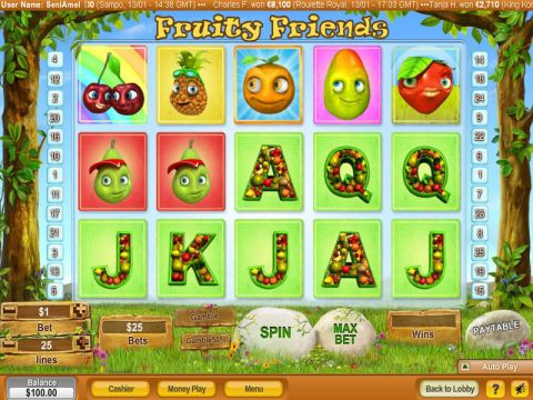 Fruity Friends Fun Slots by NeoGames with 5 Reel and 25 Line