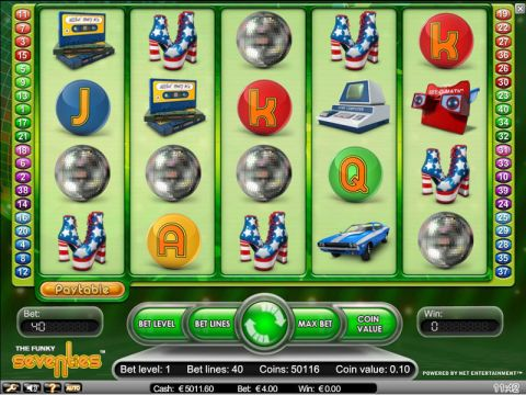 Funky Seventies Fun Slots by NetEnt with 5 Reel and 40 Line