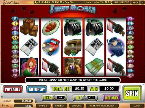 Funny Money Fun Slots by WGS Technology with 5 Reel and 25 Line