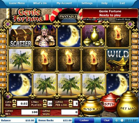 Genie Fortune Fun Slots by Leap Frog with 5 Reel and 20 Line