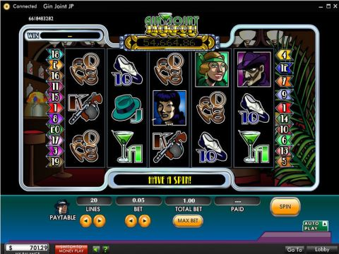 Gin Joint Jackpot Fun Slots by 888 with 5 Reel and 20 Line