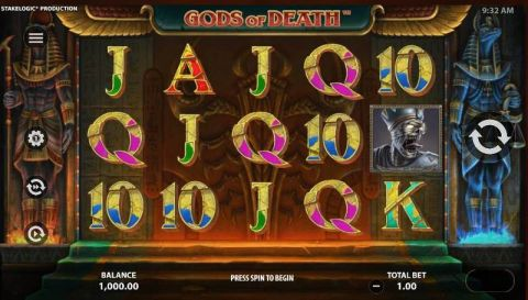 Gods of Death Fun Slots by StakeLogic with 5 Reel and 10 Line