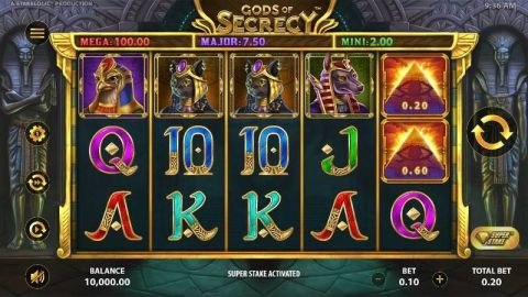 Gods of Secrecy Fun Slots by StakeLogic with 5 Reel and 10 Line