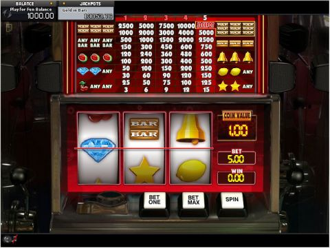 Gold in Bars Fun Slots by GamesOS with 3 Reel and 1 Line