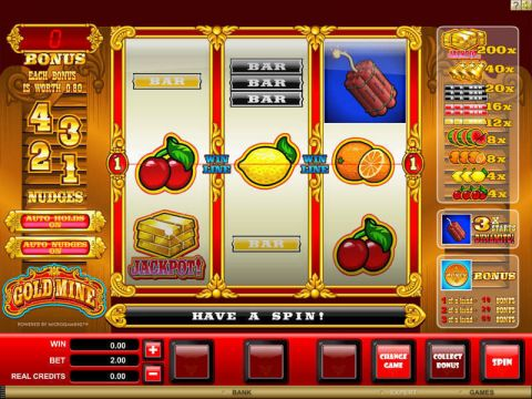 Gold Mine Fun Slots by Microgaming with 3 Reel and 1 Line