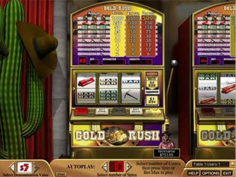 Gold Rush Fun Slots by Boss Media with 3 Reel and 1 Line