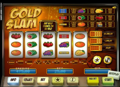 Gold Slam Fun Slots by Sheriff Gaming with 5 Reel and 9 Line