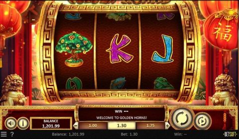 Golden Horns Fun Slots by BetSoft with 3 Reel and 1 Line