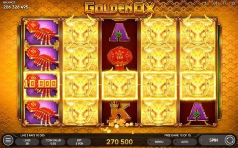 Golden Ox Fun Slots by Endorphina with 5 Reel and 50 Line