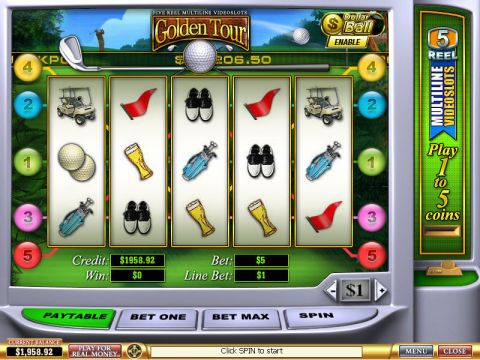Golden Tour Fun Slots by PlayTech with 5 Reel and 5 Line