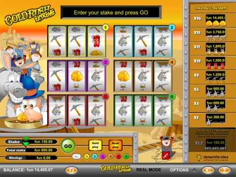 GoldRush Extreme Fun Slots by GTECH with 3 Reel and 1 Line