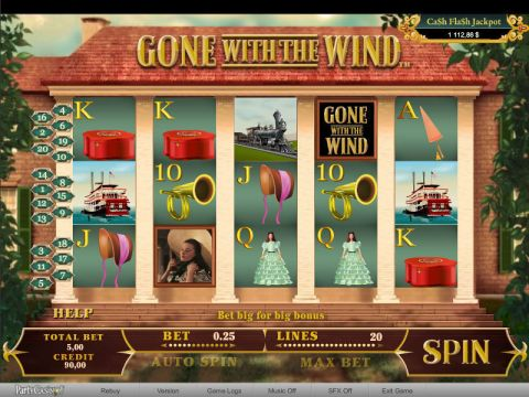 Gone With The Wind Fun Slots by bwin.party with 5 Reel and 20 Line