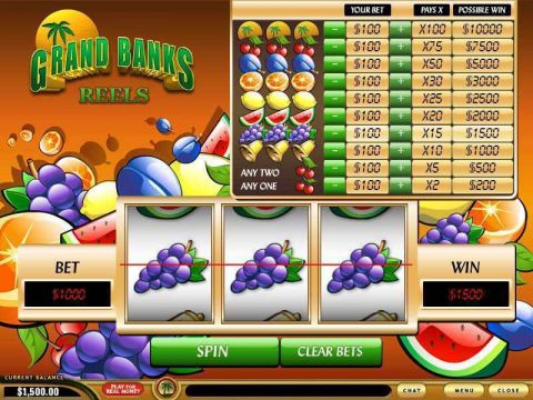 Grand Banks Reels Fun Slots by PlayTech with 3 Reel and 1 Line