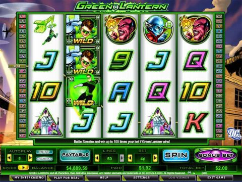 Green Lantern Fun Slots by Amaya with 5 Reel and 50 Line