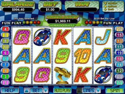 Green Light Fun Slots by RTG with 5 Reel and 20 Line