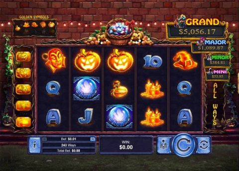 Halloween Treasures Fun Slots by RTG with 5 Reel and 243 Line
