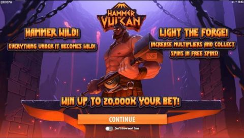 Hammer of Vulcan Fun Slots by Quickspin with 6 Reel and 4096 Line