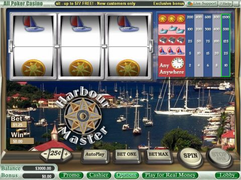 Harbour Master Fun Slots by WGS Technology with 3 Reel and 1 Line
