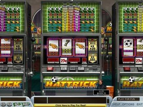 Hattrick Fun Slots by Boss Media with 3 Reel and 1 Line