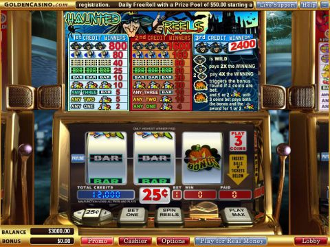 Haunted Reels Fun Slots by Vegas Technology with 3 Reel and 1 Line