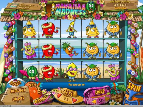Hawaiian Madness Fun Slots by bwin.party with 5 Reel and 50 Line