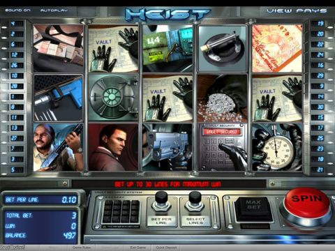 Heist Fun Slots by BetSoft with 5 Reel and 30 Line