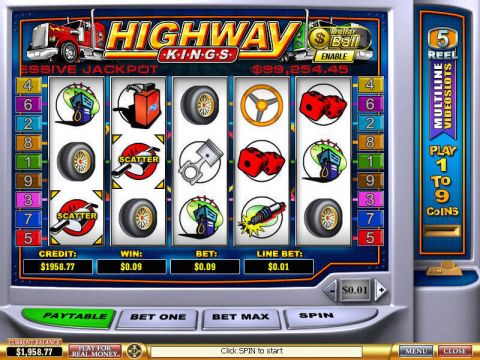 Highway Kings Fun Slots by PlayTech with 5 Reel and 9 Line