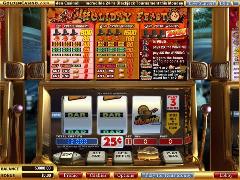 Holiday Feast Fun Slots by Vegas Technology with 3 Reel and 1 Line