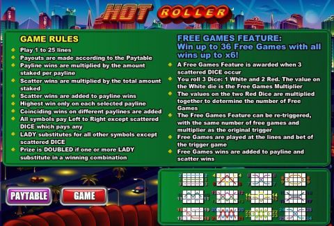 Hot Roller Fun Slots by WGS Technology with 5 Reel and 25 Line