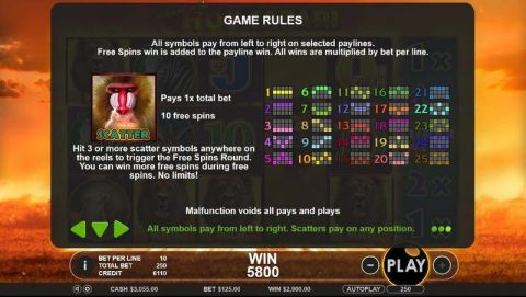 Hot Safari Fun Slots by Topgame with 6 Reel and 25 Line