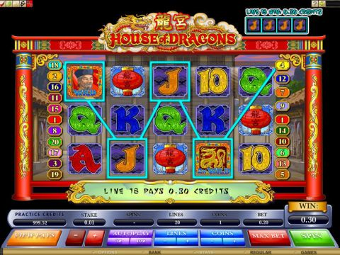 House of Dragons Fun Slots by Microgaming with 5 Reel and 20 Line