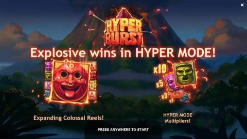 Hyperburst Fun Slots by Yggdrasil with 6 Reel and 25 Line