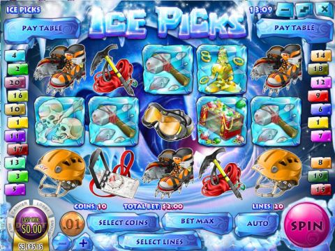 Ice Picks Fun Slots by Rival with 5 Reel and 20 Line