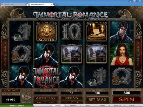 Immortal Romance Fun Slots by Microgaming with 5 Reel and 243 Line