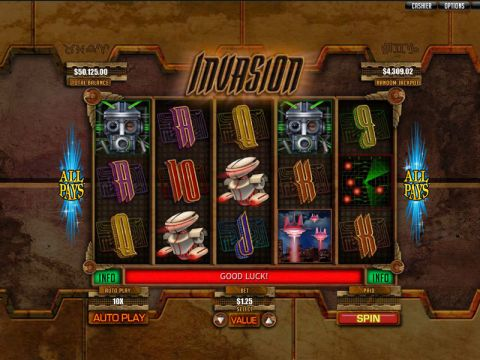 Invasion Fun Slots by RTG with 5 Reel and 243 Line