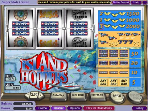 Island Hoppers Fun Slots by WGS Technology with 3 Reel and 1 Line