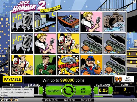 Jack Hammer 2 Fun Slots by NetEnt with 5 Reel and 99 Line