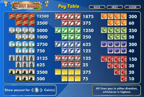 Jackpot Holiday Fun Slots by Amaya with 16 Reel and 10 Line