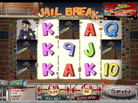 Jail Break Raffle Fun Slots by bwin.party with 5 Reel and 50 Line