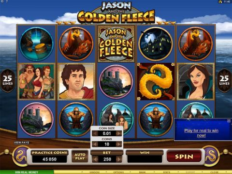 Jason and the Golden Fleece Fun Slots by Microgaming with 5 Reel and 25 Line