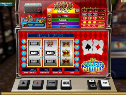 Joker 8000 Fun Slots by Microgaming with 3 Reel and 5 Line