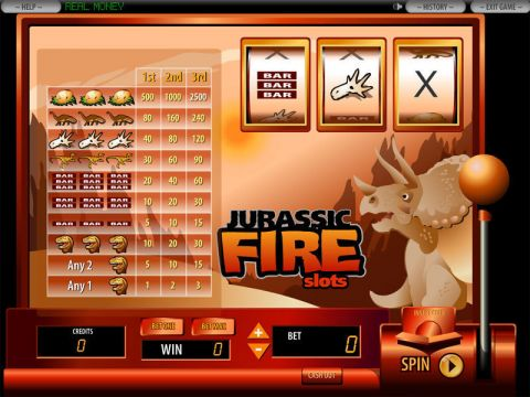 Jurassic Fire Fun Slots by DGS with 3 Reel and 1 Line